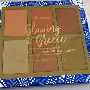 Glowing In Greece - 6 Color Blush & Highlighter Palette by BH Cosmetics #13